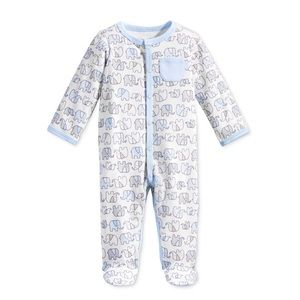 2 first impressions Elephant print footed coverall